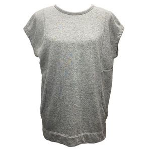 Banana Republic Gray Short Sleeve Sweatshirt Top